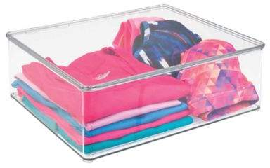 Medium Closet Storage Stackable Box with Lid