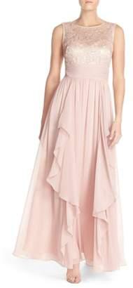 Eliza J Lace & Chiffon Gown