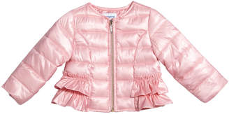 Mayoral Padded Ruffle-Trim Wind Jacket, Size 12-36 Months