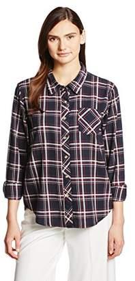 Image (イマージュネット) - (イマージュ)IMAGE チェックシャツ RW-3232 977 ネイビーケイ 9