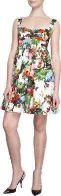 Floral Print Babydoll Dress