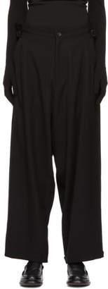 Yohji Yamamoto Black Wide Belt Trousers