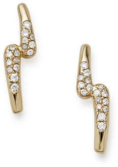Ippolita 18K Gold Stardust Lightning Bolt Earrings with Diamonds