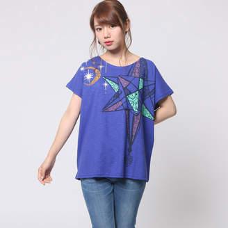 チャイハネ 【 】モロッコランプ★アラビアンプリントTシャツ ブルー