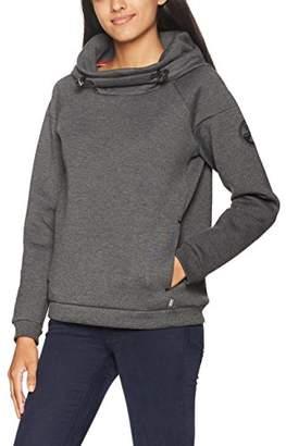 Napapijri Women's Bear WOM Hood Sweatshirt, (Dark Grey Mel 197), Small