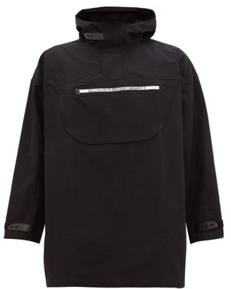 Calvin Klein Hooded Technical Windbreaker Jacket - Mens - Black