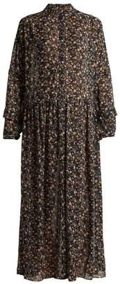 MiH Jeans Edith botanical silk dress