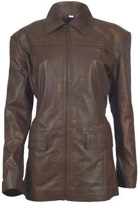 Hwear Womens Jennifer Lawrence The Hunger Games Faux Leather Jacket XL
