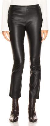 SABLYN Devon Cropped Leather Pants in Black | FWRD