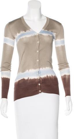 Dolce & GabbanaD&G Silk Dip-Dye Cardigan w/ Tags