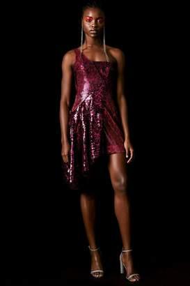 Topshop Sequin Asymmetric Dress by x Halpern