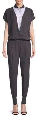 Brunello Cucinelli Casual Short-Sleeve Jumpsuit