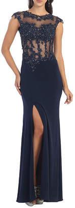 Asstd National Brand Semi Formal Long Stretchy Dress