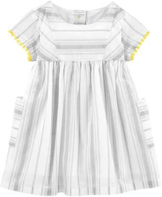 Osh Kosh Oshkosh Bgosh Baby Girl Striped Babydoll Dress