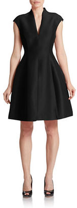 Halston Heritage Cotton-Silk Structured Dress $445 thestylecure.com