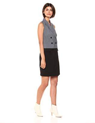 Calvin Klein Women's Sleeveless Double Breasted Coat Dress