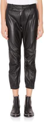Nili Lotan Cropped Military Leather Pant