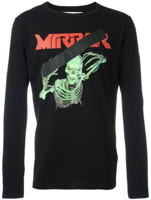 Off-White mirror skull T-shirt $355 thestylecure.com
