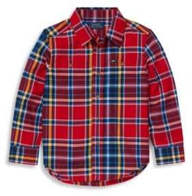 Ralph Lauren Little Boy's Plaid Cotton Collared Shirt