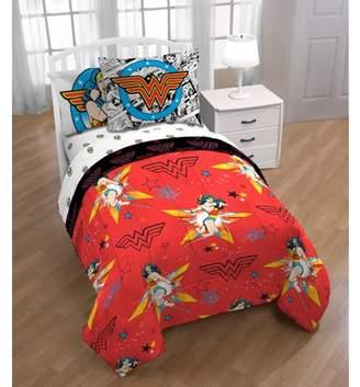 "Justice DC ORIGIN-DC COMICS Wonder Woman ""Star of Kids Twin Bed in a Bag Bedding Set"