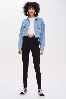 Topshop Womens Black Joni Jeans
