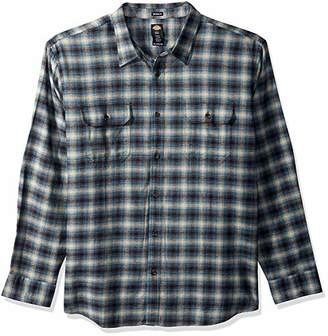 Dickies Men's Big Tall Long Sleeve Relaxed Fit Flannel Shirt