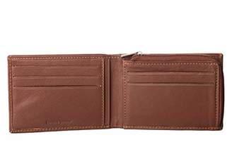 Men's Genuine Handmade Leather Zipper Bifold Wallet