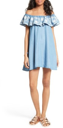 Women's Rebecca Minkoff Dev Off The Shoulder Minidress $178 thestylecure.com