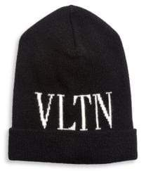 Valentino VLTN Logo Beanie