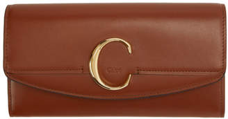 Chloé Brown C Long Wallet