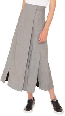 Akris Wrapped Fil-a-Fil Midi Skirt