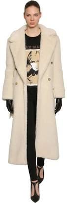 Max Mara Double Breasted Fringed Coat
