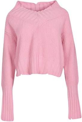 MSGM V-neck Distressed Sweater