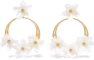 Mallarino Suzanna Gold Vermeil And Silk Earrings