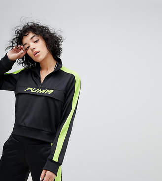 Puma Exclusive To ASOS Track Jacket In Black And Neon Green