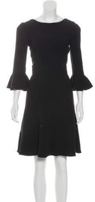 Dolce & Gabbana Bell Sleeve Mini Dress w/ Tags Black Bell Sleeve Mini Dress w/ Tags