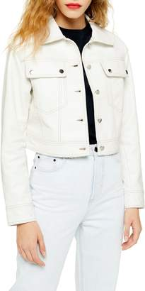 Topshop Western Faux Leather Jacket