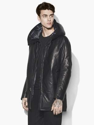 John Varvatos Downfill Leather Parka