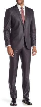 Kenneth Cole Reaction Techni-Cole Basketweave Notch Collar Suit