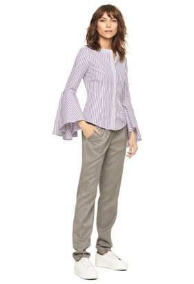 Milly Stripe Shirting Michelle Blouse