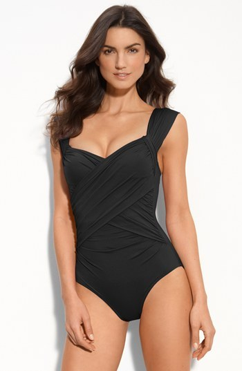 Badgley Mischka 'MB11' Shirred Maillot