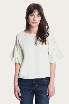 Frye The CompanyThe Company Flutter Sleeve Woven Top