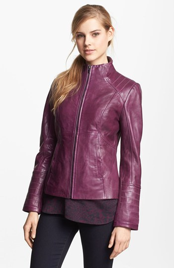 LaMarque Funnel Neck Leather Jacket 3