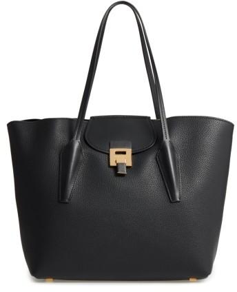 Michael Kors Large Bancroft Leather Tote - Black