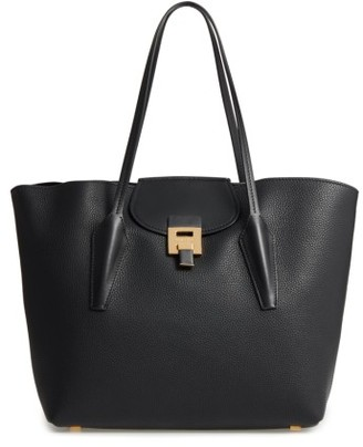 Michael Kors Large Bancroft Leather Tote - Black $890 thestylecure.com