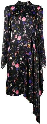 Osman Bow back asymmetrical dress