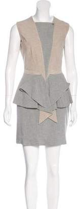 Givenchy Sleeveless Ruffle-Accented Dress