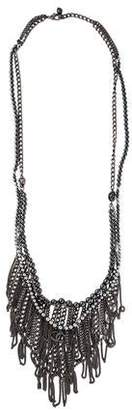 Chanel Long Faux Pearl Chain Fringe Necklace