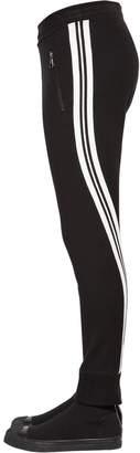 Neil Barrett Cotton Jersey Pants W/ Twisted Stripes