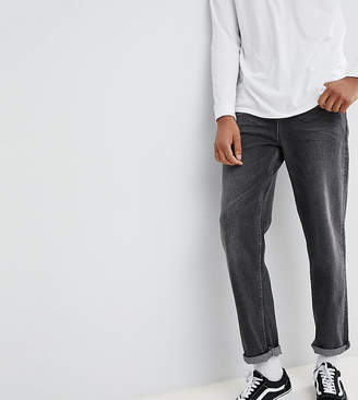 Asos DESIGN TALL Skater Jeans In Vintage Washed Black